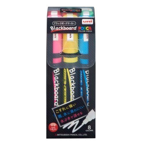 Uni Mitsubishi BLACKBOARD POSCA Marker Medium Point 8 Color Set