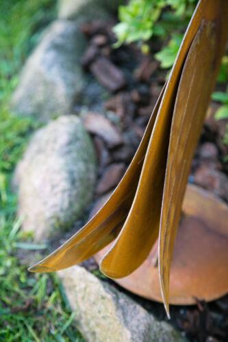 Dekofigur Gans Edelrost H 47cm Gartenfigur Figur Rostdeko