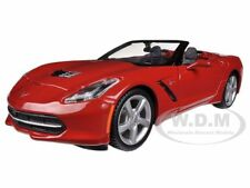 2014 CHEVROLET CORVETTE C7 CONVERTIBLE METALLIC RED 1/24 CAR BY MAISTO 31501