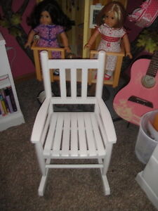 Rare New Land Of Nod Child S White Rocking Chair Twins Ebay