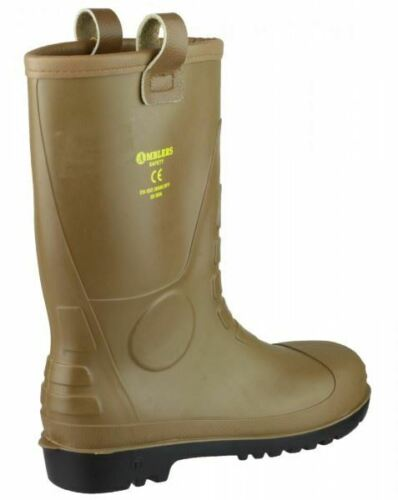 Amblers FS95 Safety Rigger Boots Steel Toe Cap S5 Warm Lined PVC Work Wellington