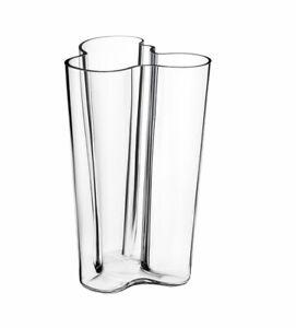 Iittala Glass Alvar Aalto Vase Collection 251 Mm Finland Clear Glass Ebay