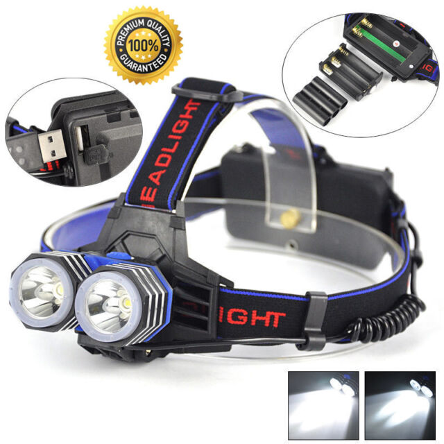 13000 Lumens LED 2X XML T6 Headlamp Headlight Flashlight Head Torch AAA/AA/18650