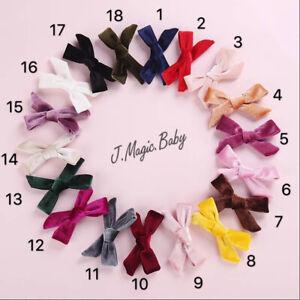 Baby-Girls-Women-Velvet-Hair-Clip-Pin-Bow-Knot-Hair-Accessories-Barrettes