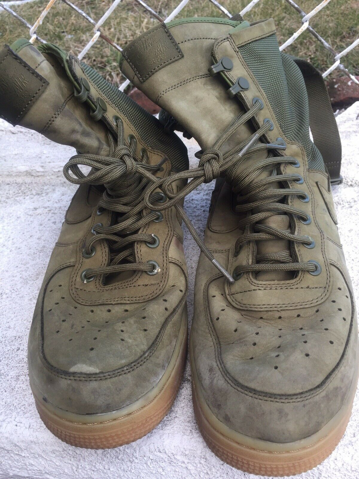 Nike Special Field Air Force 1 859202-339 SF AF1 Olive Green nikelab Size 10.5