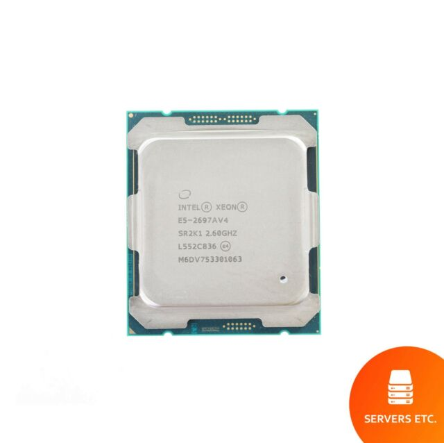 INTEL XEON E5-2697A V4 CPU PROCESSOR 16 CORE 2 60GHZ 40MB L3 CACHE 145W  SR2K1