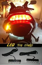 2 LED Motorcycle Turn Signals Blinkers Front Rear Peg Light Cowl Slim Flush Brat