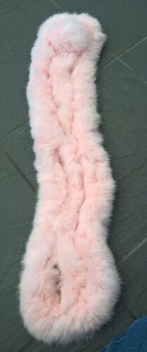 Bébé rose véritable fourrure de lapin Pom Pom Écharpe Cou Plus Chaud Col Châle Étole