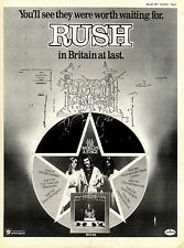 28/5/1977Pg5 Album & Tour Dates Advert 15x10 Rush, All The World's A Stage