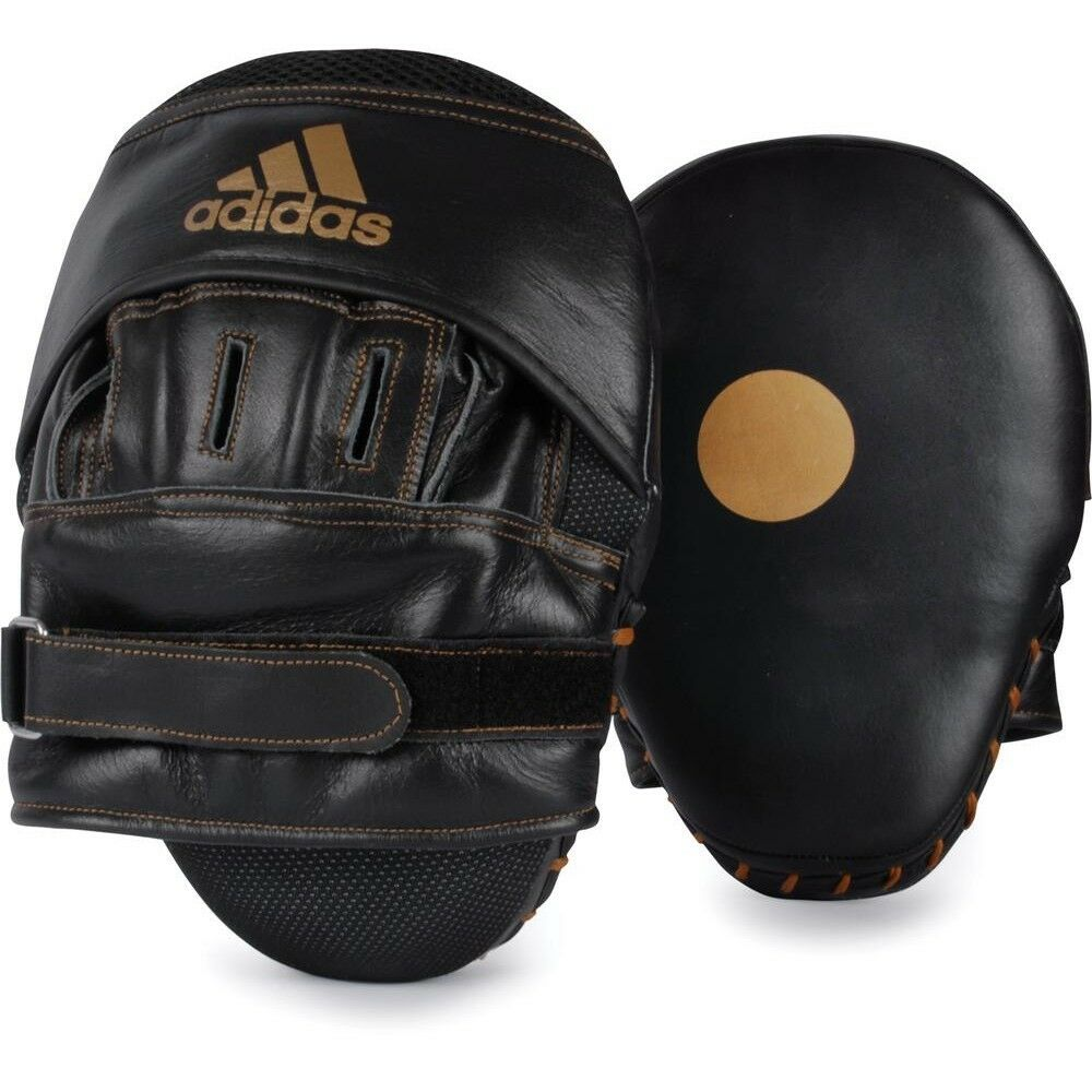 Adidas Boxing Focus Mitts Classic Curved Leather Taekwondo MMA Karate  Punch Pad  order now lowest prices