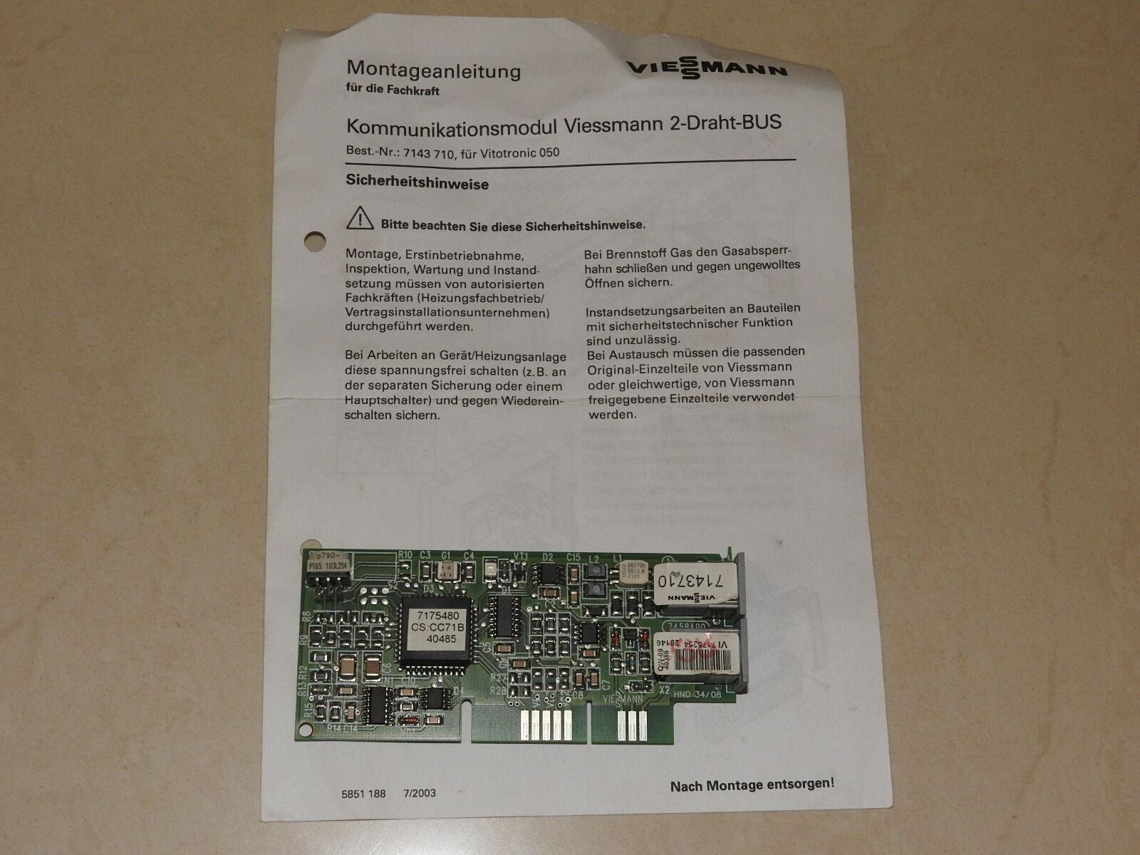 Viessmann Kommunikationsmodul 2-Draht Bus HV-Bus (050+100GC1) Best.Nr.: 7143710