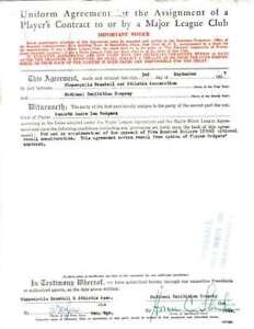 Horace-Stoneham-Jsa-Coa-Cert-Hand-Signed-1957-Giants-Contract-Autograph