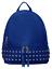 Zaino-Donna-Pelle-Borchie-Zainetto-Vintage-Capiente-Comodo-Giallo-Rosso-Blu-Nero miniatura 17