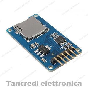 Arduino-Micro-SD-card-mini-TF-card-reader-module-SPI-interface-level-conversion