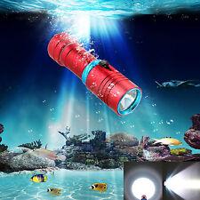 Waterproof 5000LM CREE XM-L2 LED Scuba Snorke Diving Flashlight Torch Light Lamp