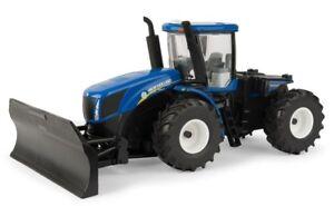 Ert13925 - Tracteur New-holland T9.560 Avec Lame Frontale 1/32