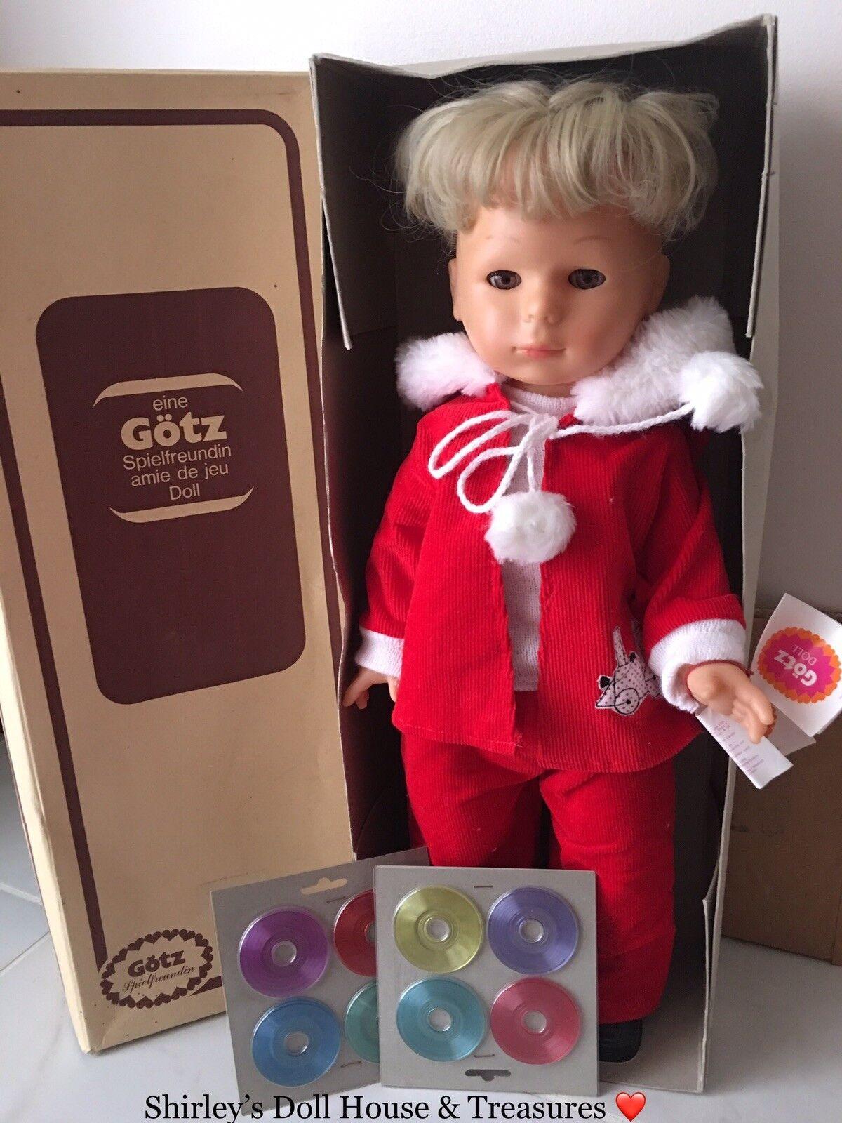 ️Vintage RARE GOTZ Spielfreundin amie de jeu Walking Singing Christmas Doll NIB