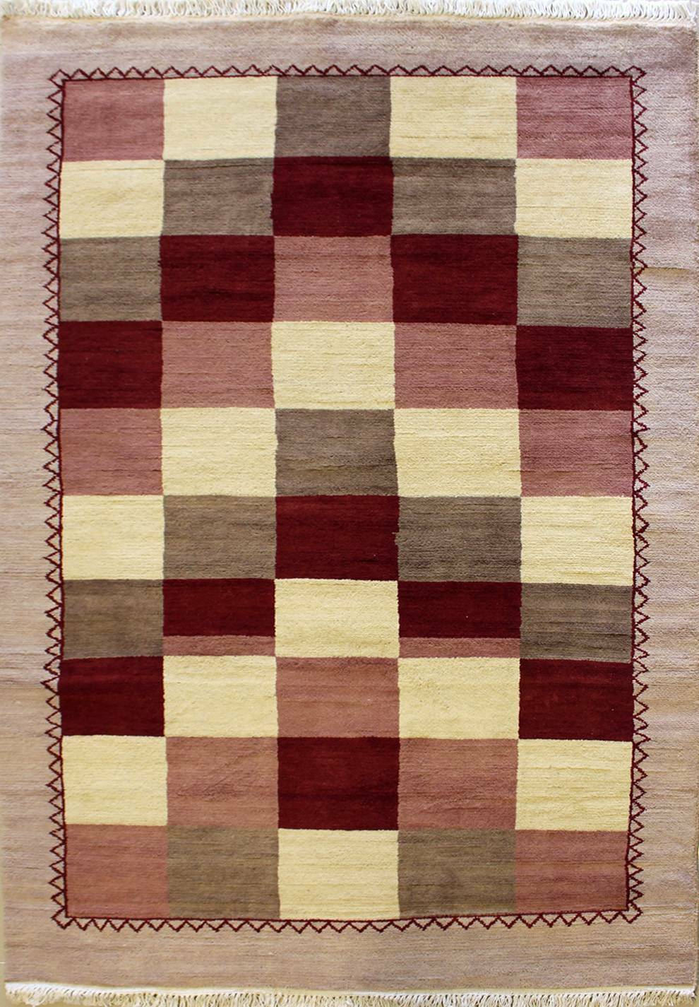 Rugstc 4x6 Senneh Gabbeh MulticolGoldt Area Rug,Vegetable dye, Hand-Knotted,Wool Hand-Knotted,Wool Hand-Knotted,Wool 98d6e2