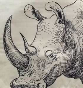 RHINOCEROS-Line-LINEN-BLEnd-18X18-Pillow-Cover-Case-FAST-US-Shipping