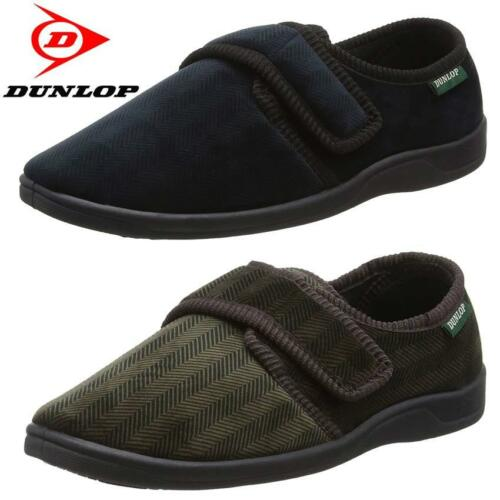 DUNLOP MENS DIABETIC ORTHOPAEDIC EASY CLOSE WIDE FIT STRAP SLIPPERS SHOES SIZE