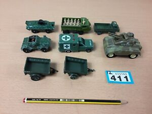 1970s-Vintage-joblot-Corgi-ARMY-MILITARY-cars-diecast-RESTORATION-PROJECT