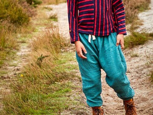 ANYWARE KIDS CHILDREN/'S DESIGNER BOHO CHIC COTTON HAREM PANTS BOTTOMS UK MADE