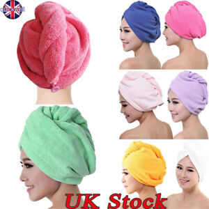Microfibre After Shower Hair Drying Wrap Towel Quick Dry Hair Hat Cap Turban New