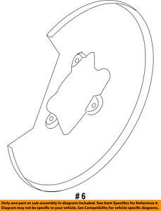 FORD OEM Front Brake-Backing Plate Dust Splash Shield DC3Z2K005A