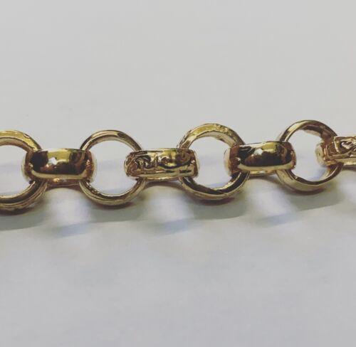 Solid 9 Carat Plated 925 Sterling Silver Kids//Childs 8mm Belcher Bracelet New
