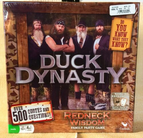 New DUCK DYNASTY Family Party Game Redneck Wisdom 500 Quotes Questions Robertson