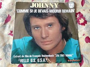 comme-si-je-devais-mourir-demain-JOHNNY-HALLYDAY-45-t-collector