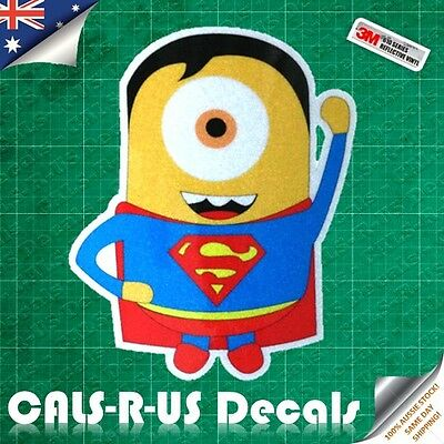 3M 610 REFLECTIVE Minion Superhero Series - 03 Superman Vinyl Car Decal Sticker