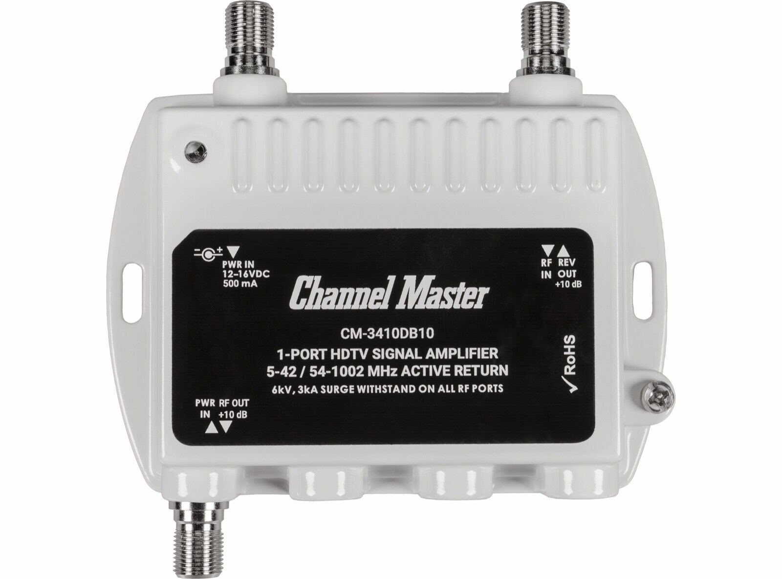 Channel Master 1-Port TV Antenna Signal Booster Distribution Amplifier 3410DB10. Available Now for 29.00