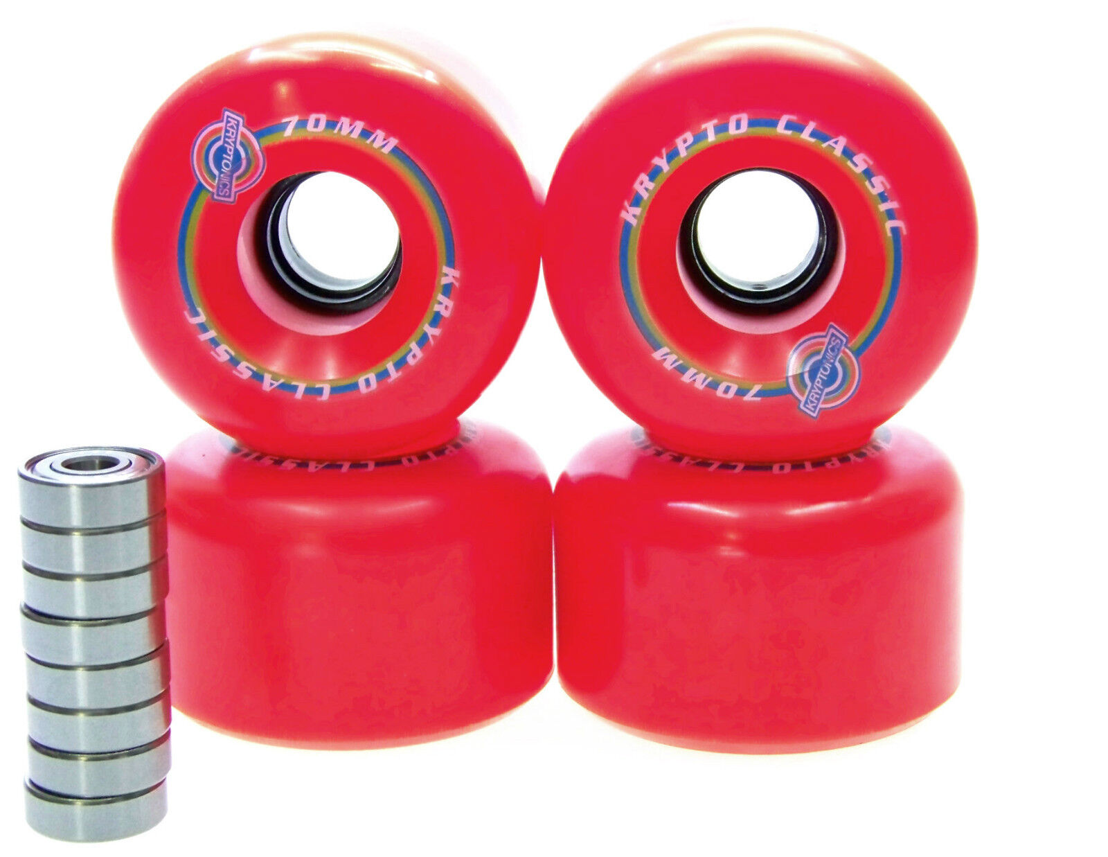 Kryptonics Classic 70mm   78A Longboard wheels bearing ABEC  5 7 9 RED  factory outlet online discount sale