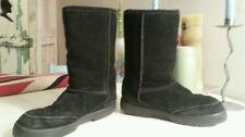 Bearpaw Black Suede Boots Sz 7