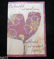 Leanin Tree Sympathy Funeral Memorial Flowers Greeting Card Multi Color R175