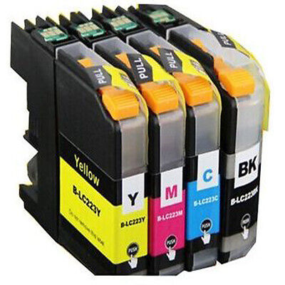 4 Non-OEM Replaces For Brother LC223 MFC-J5620DW MFC-J5625DW Ink Cartridges