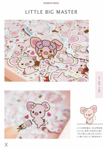 Cute Pig Decorative Stickers Stick Labels Diary Stationery Album Stickers Kawaii