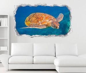 3d Wandtattoo Schildkrote Ozean Tauchen Wasser Wand Aufkleber