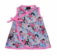 Pink Cherry Blossom Japanese Clothing Kimono Toddler Baby Girls Dress Pants