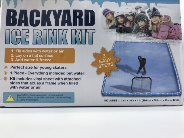 Backyard Ice Rink Kit 13x10x4 ft Brand New | eBay