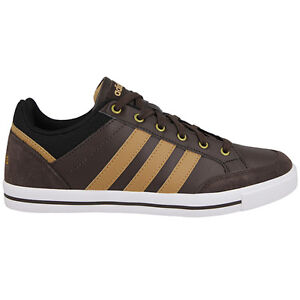 brown leather adidas trainers