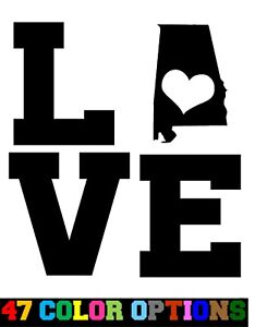 Vinyl Decal Truck Car Sticker Laptop Home State Map Outline Love