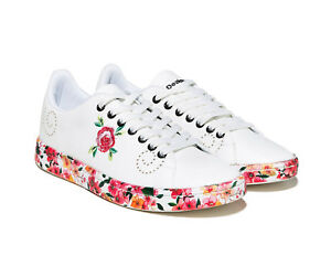 Desigual-Shoes-Cosmic-Microrapport-White-Women-039-s-Sneakers-Shoes-Trainers