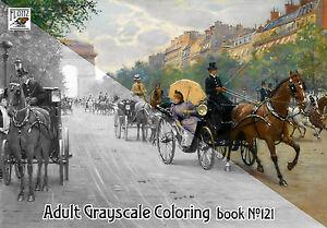 Adult Coloring Book 24 Pg Landscape Vintage Town