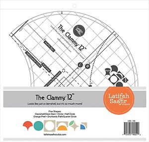 clammy 12 inch quilt template clamshell half circle orange peel