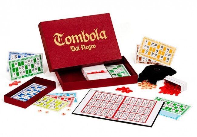 TOMBOLA CLASSICA Natale Cartelle Tabellone Numeri Estrazione Cinquina 02691