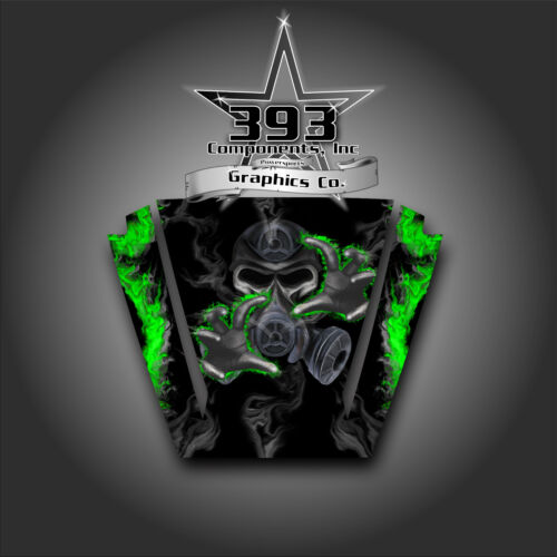 Arctic Cat Wildcat Trail Hood Graphic Decal Kit Sticker Wrap Toxic Green