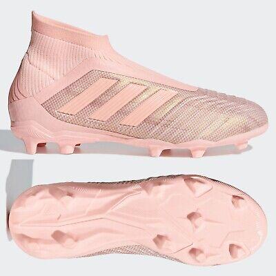 Adidas Predator 18+ Fg Junior Chaussures De Football Garçons Filles Rose Laceless Taille 4 4.5   eBay