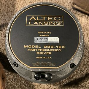 2-Altec-Lansing-288-16k-Compression-Driver-Tube-Horn-Midrange-High-Frequency